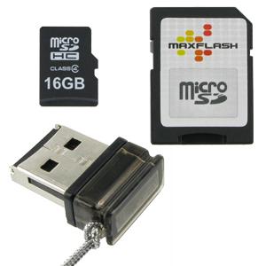 16GB-USB-Speicher-Set-Class-4-microSDHC-Speicherkarte-Nano-Cardreader-Stick
