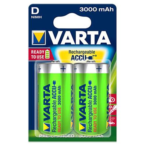 VARTA Akku AAA Micro, AA Mignon, 9 V Block, C Baby, D Mono Wiederaufladbare Accu